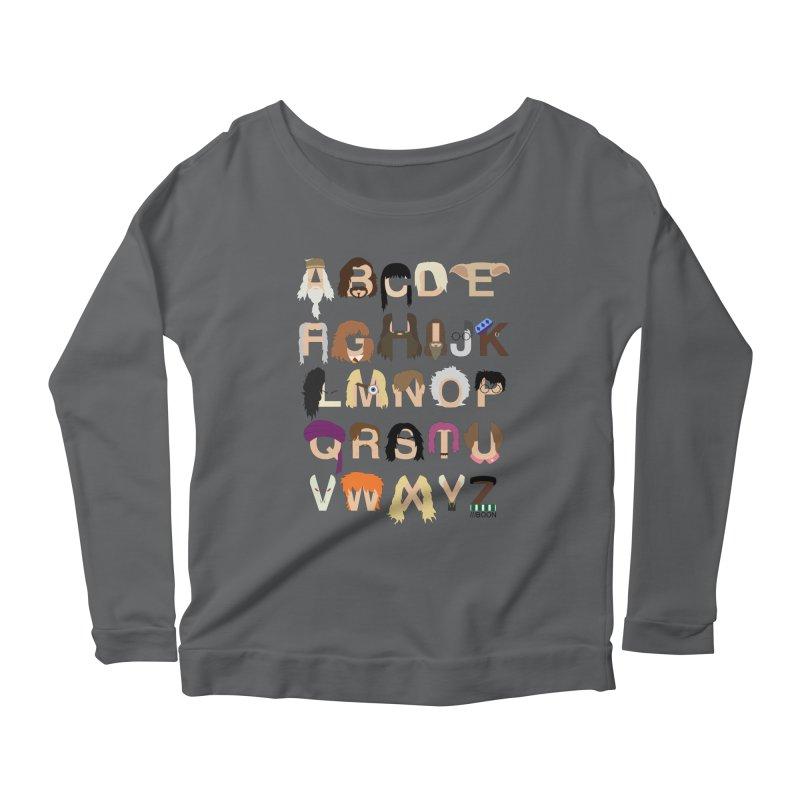 Harry Potter Alphabet Women's Longsleeve Scoopneck  by Mike Baboon Design