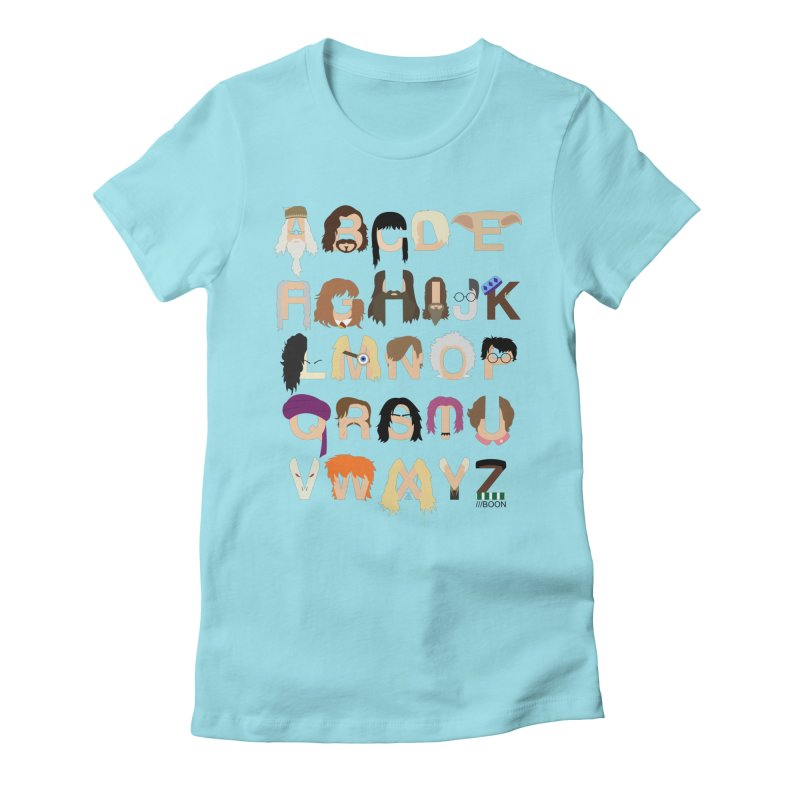 Harry Potter Alphabet Women's Fitted T-Shirt by Mike Baboon Design