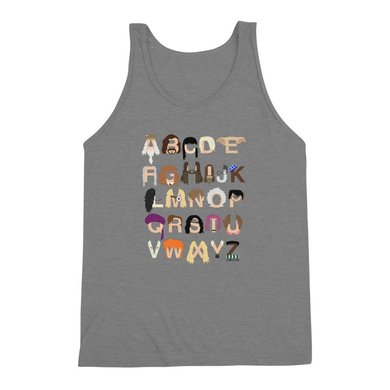 Harry Potter Alphabet Men's Triblend Tank by Mike Baboon Design