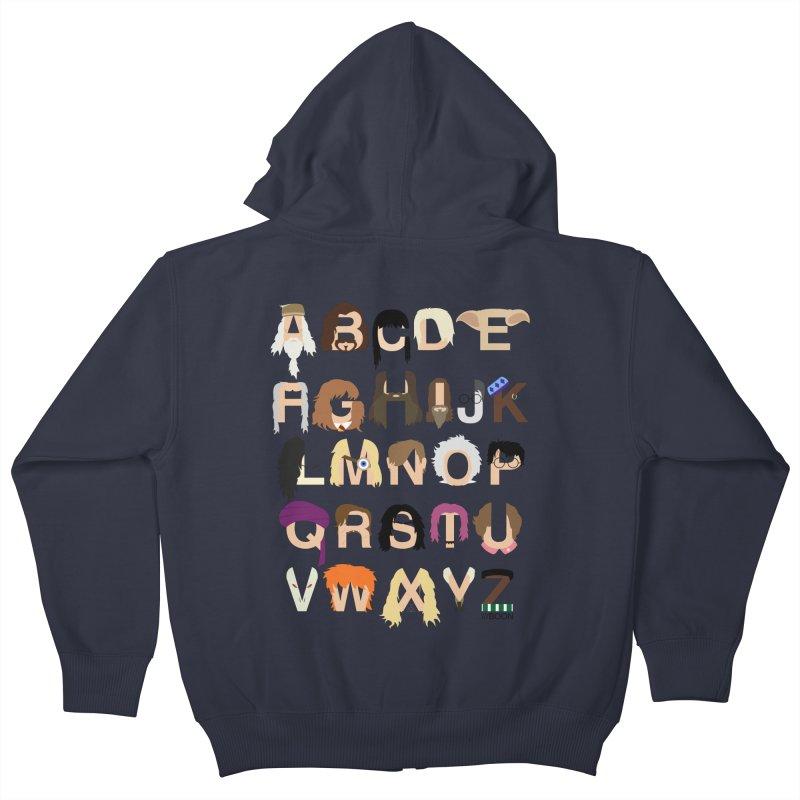 Harry Potter Alphabet Kids Zip-Up Hoody by Mike Baboon Design