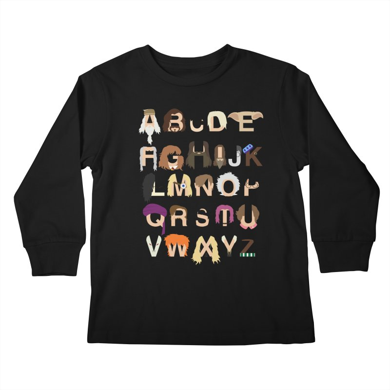 Harry Potter Alphabet Kids Longsleeve T-Shirt by Mike Baboon Design