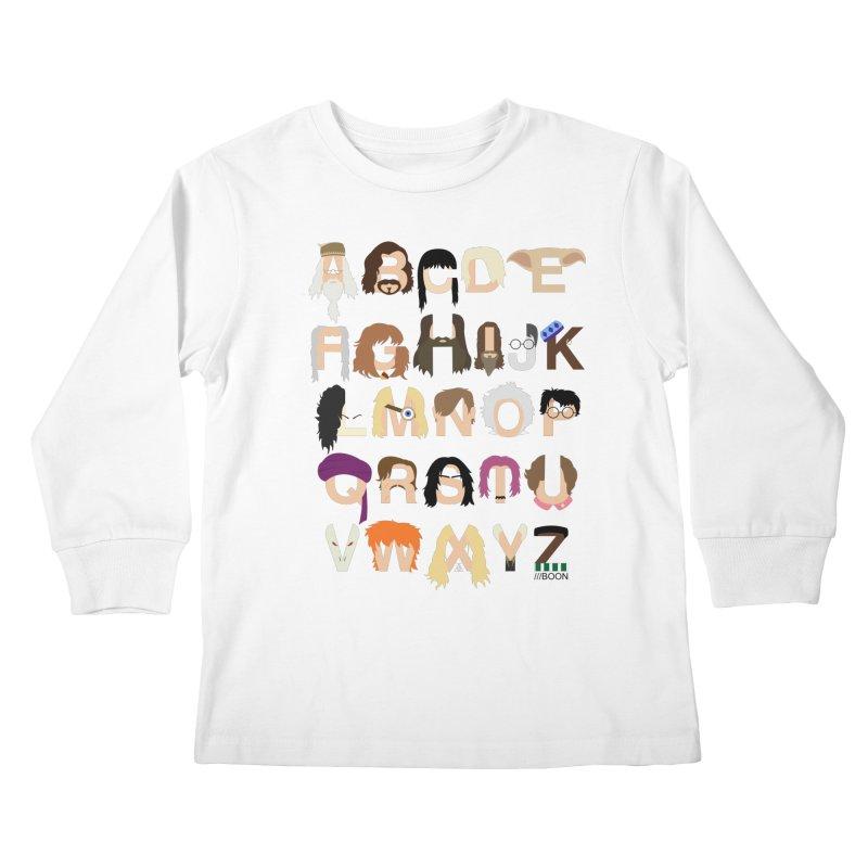 Harry Potter Alphabet Kids Longsleeve T-Shirt by Mike Baboon Design