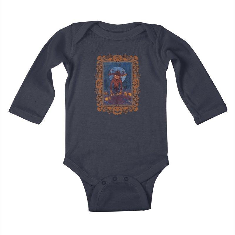 La Calabaza Kids Baby Longsleeve Bodysuit by Mike Bilz's Artist Shop