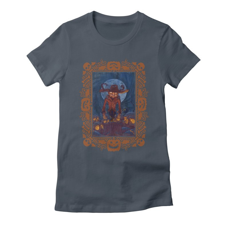 La Calabaza Women's Fitted T-Shirt by Mike Bilz's Artist Shop