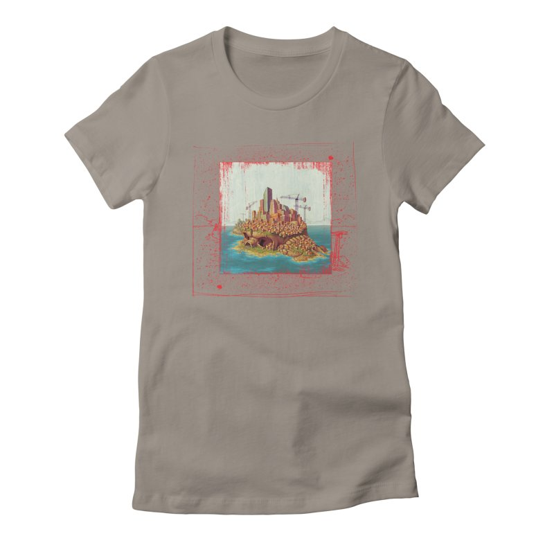 Sprawl Women's Fitted T-Shirt by Mike Bilz's Artist Shop