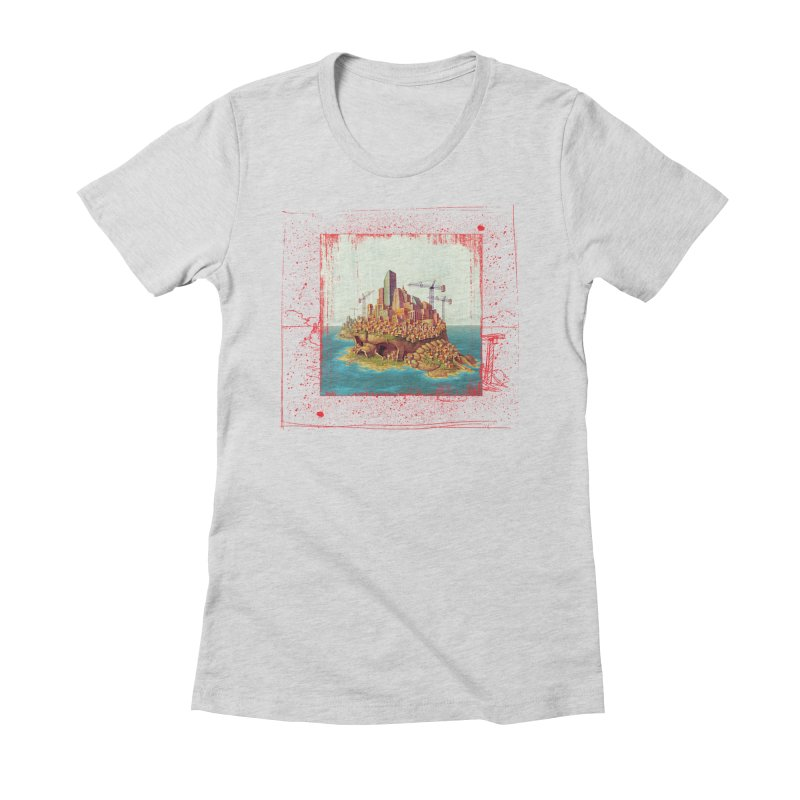 Sprawl Women's Fitted T-Shirt by Mike Bilz's Artist Shop