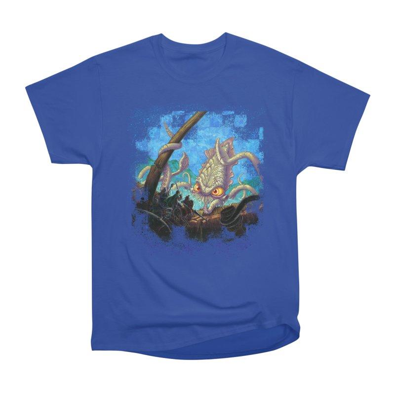 The Kraken Strikes! Women's Heavyweight Unisex T-Shirt by Mike Bilz's Artist Shop