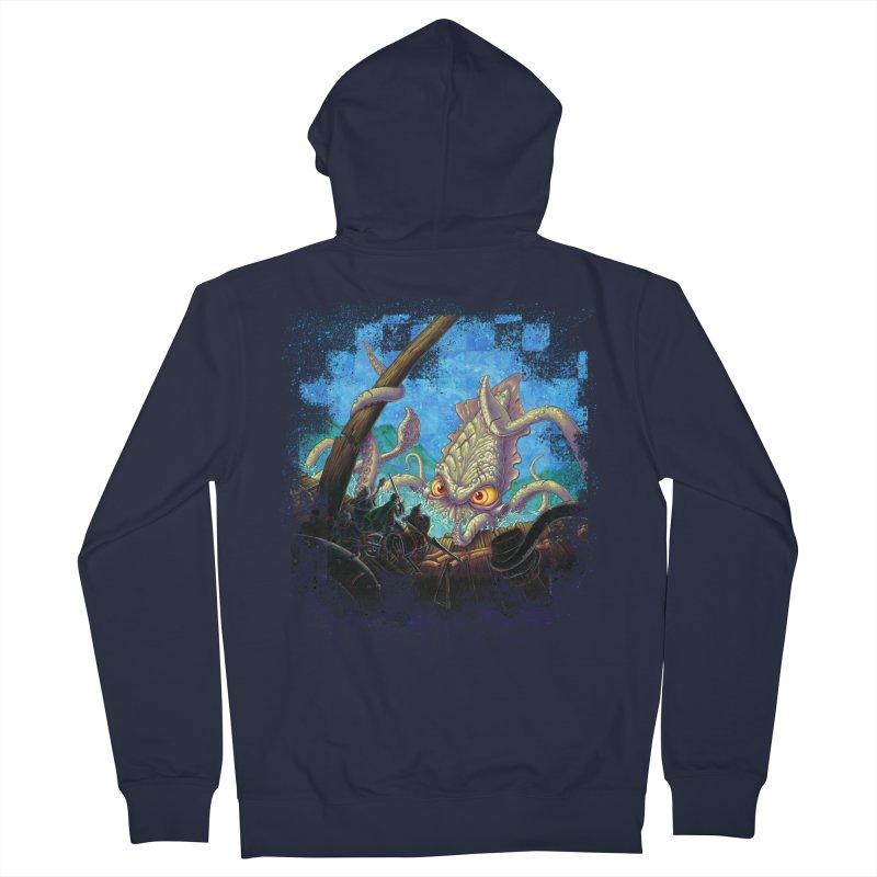 The Kraken Strikes! Men's Zip-Up Hoody by Mike Bilz's Artist Shop