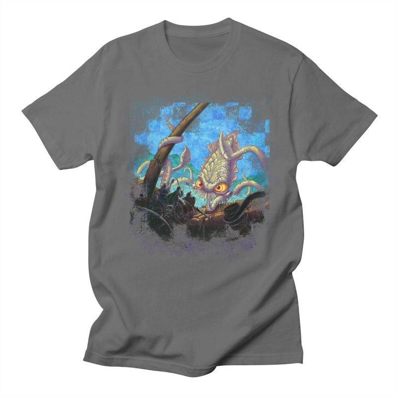 The Kraken Strikes! Women's Unisex T-Shirt by Mike Bilz's Artist Shop