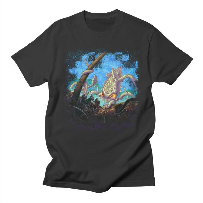 The Kraken Strikes! Women's Regular Unisex T-Shirt by Mike Bilz's Artist Shop