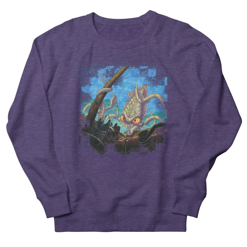 The Kraken Strikes! Women's French Terry Sweatshirt by Mike Bilz's Artist Shop