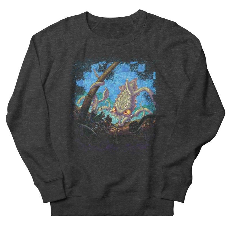 The Kraken Strikes! Men's Sweatshirt by Mike Bilz's Artist Shop