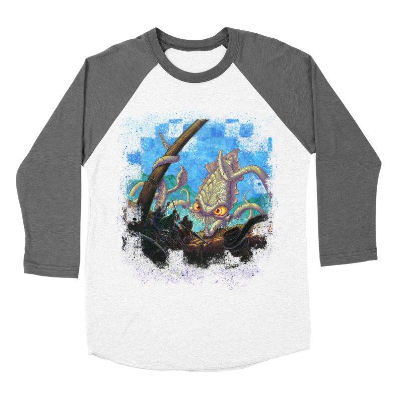 The Kraken Strikes! Women's Baseball Triblend T-Shirt by Mike Bilz's Artist Shop