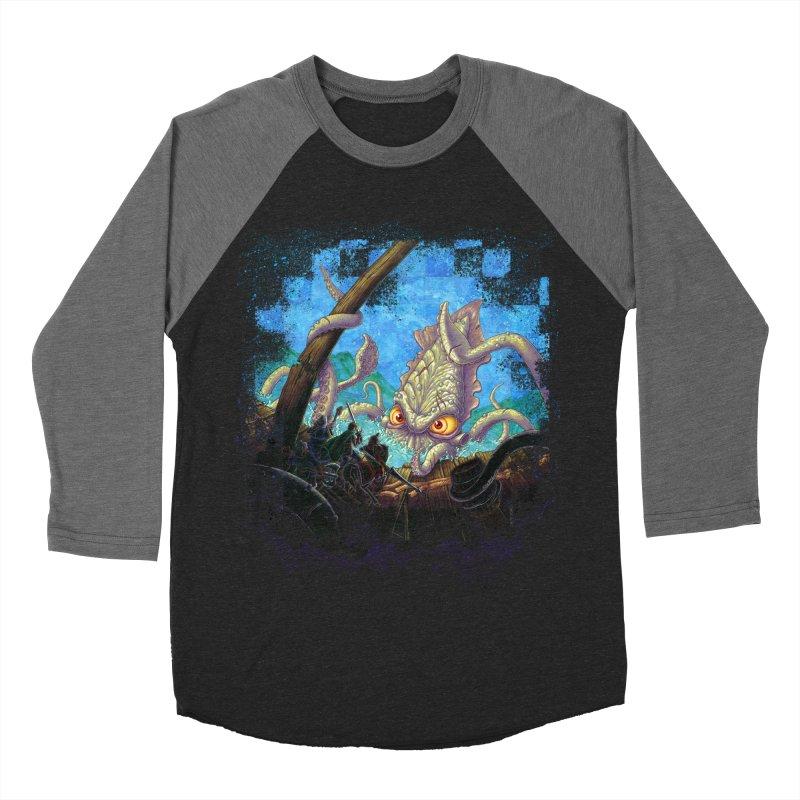 The Kraken Strikes! Women's Baseball Triblend Longsleeve T-Shirt by Mike Bilz's Artist Shop