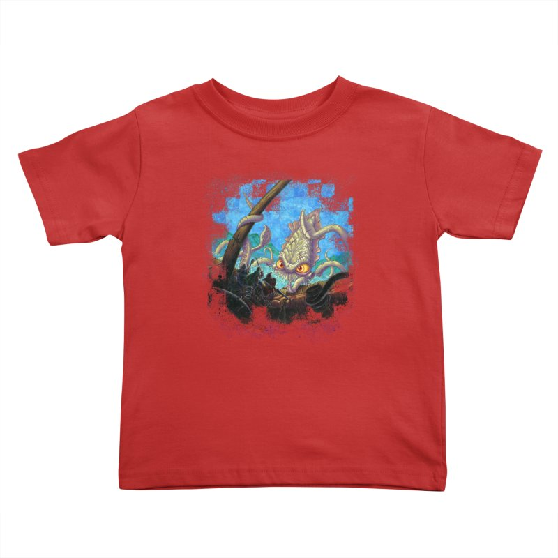 The Kraken Strikes! Kids Toddler T-Shirt by Mike Bilz's Artist Shop