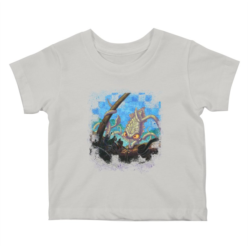 The Kraken Strikes! Kids Baby T-Shirt by Mike Bilz's Artist Shop