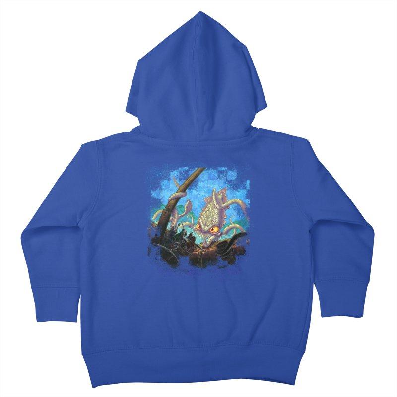 The Kraken Strikes! Kids Toddler Zip-Up Hoody by Mike Bilz's Artist Shop