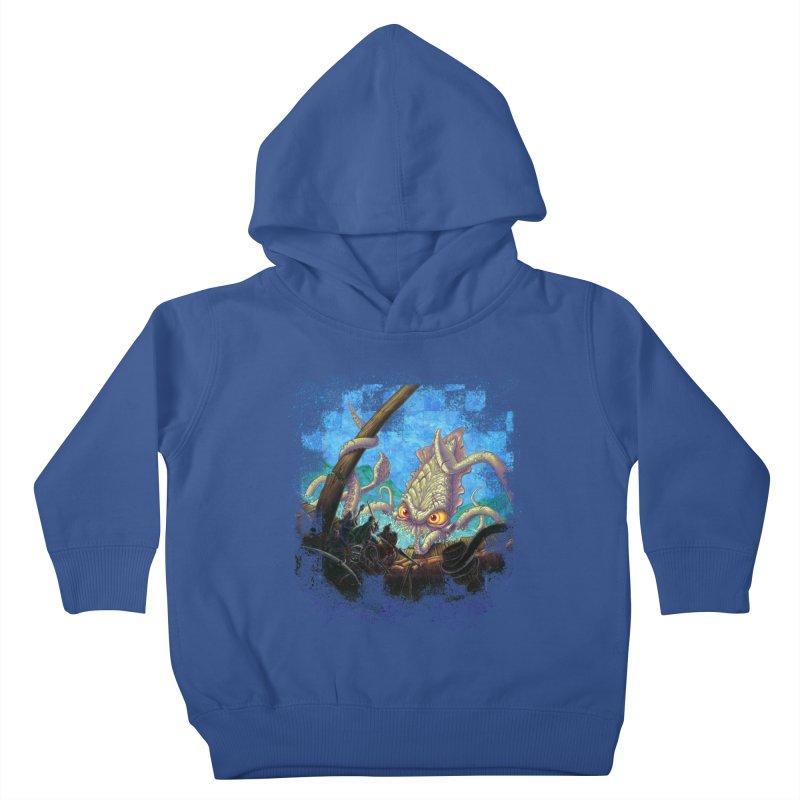 The Kraken Strikes! Kids Toddler Pullover Hoody by Mike Bilz's Artist Shop