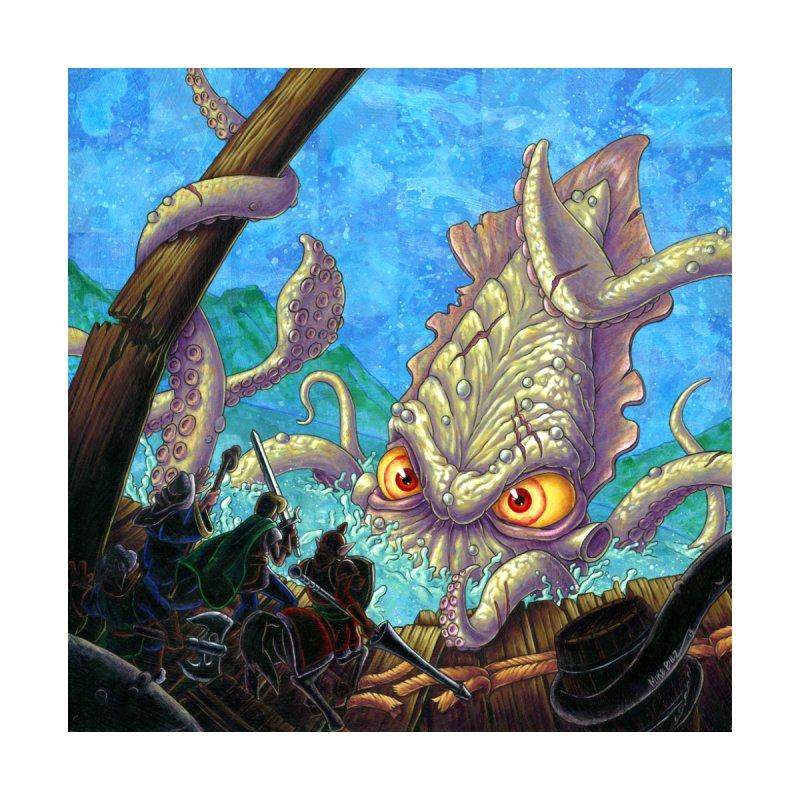 The Kraken Strikes! (print) by Mike Bilz's Artist Shop