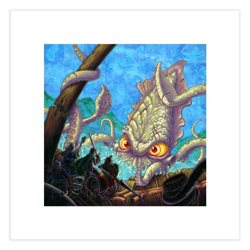 The Kraken Strikes! (print) Home Fine Art Print by Mike Bilz's Artist Shop