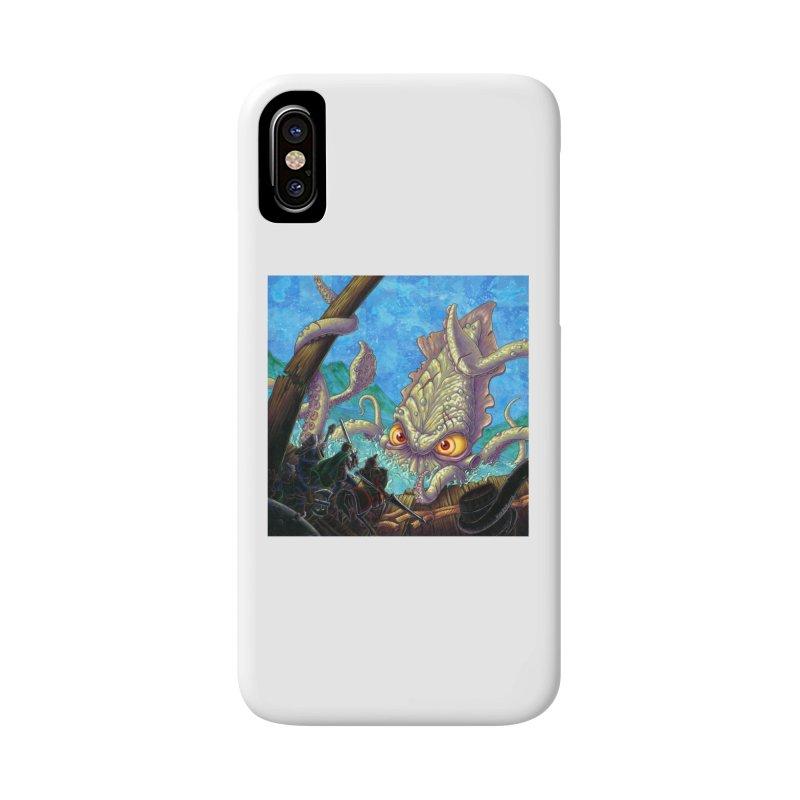 The Kraken Strikes! (print) Accessories Phone Case by Mike Bilz's Artist Shop