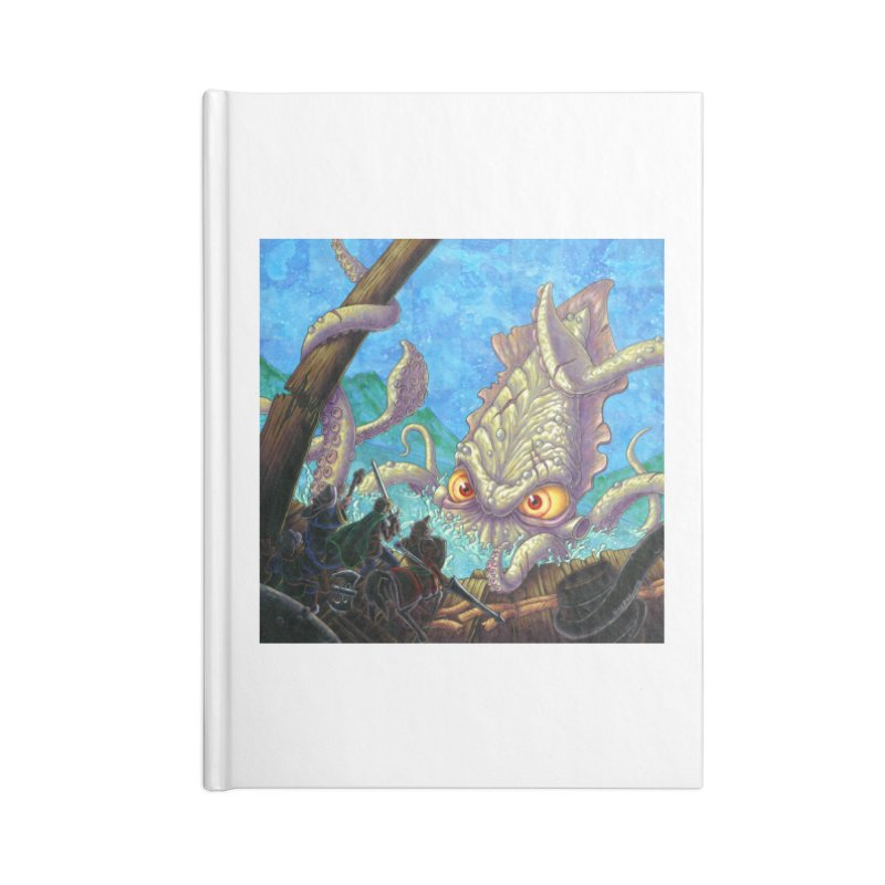 The Kraken Strikes! (print) Accessories Notebook by Mike Bilz's Artist Shop