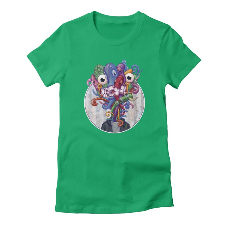 Smile, Smile, Smile Women's Fitted T-Shirt by Mike Bilz's Artist Shop