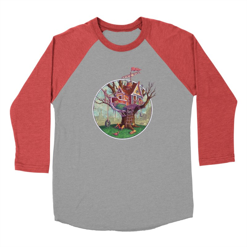 Last Outpost Men's Baseball Triblend T-Shirt by Mike Bilz's Artist Shop