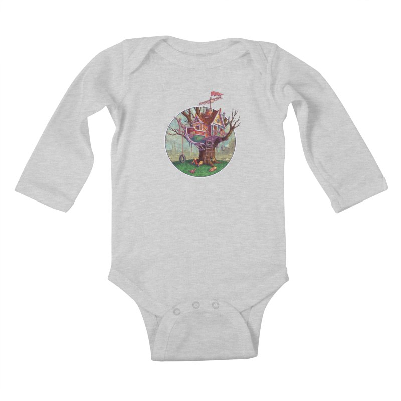 Last Outpost Kids Baby Longsleeve Bodysuit by Mike Bilz's Artist Shop