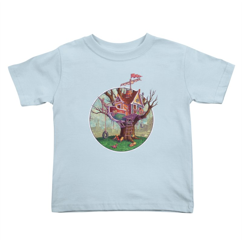 Last Outpost Kids Toddler T-Shirt by Mike Bilz's Artist Shop