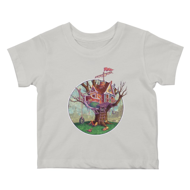 Last Outpost Kids Baby T-Shirt by Mike Bilz's Artist Shop