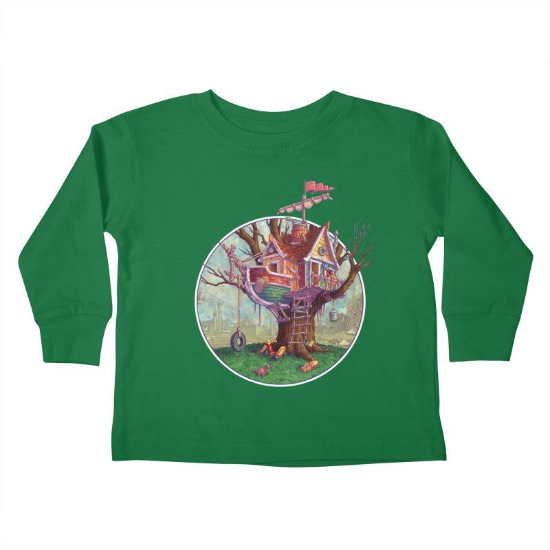 Last Outpost Kids Toddler Longsleeve T-Shirt by Mike Bilz's Artist Shop
