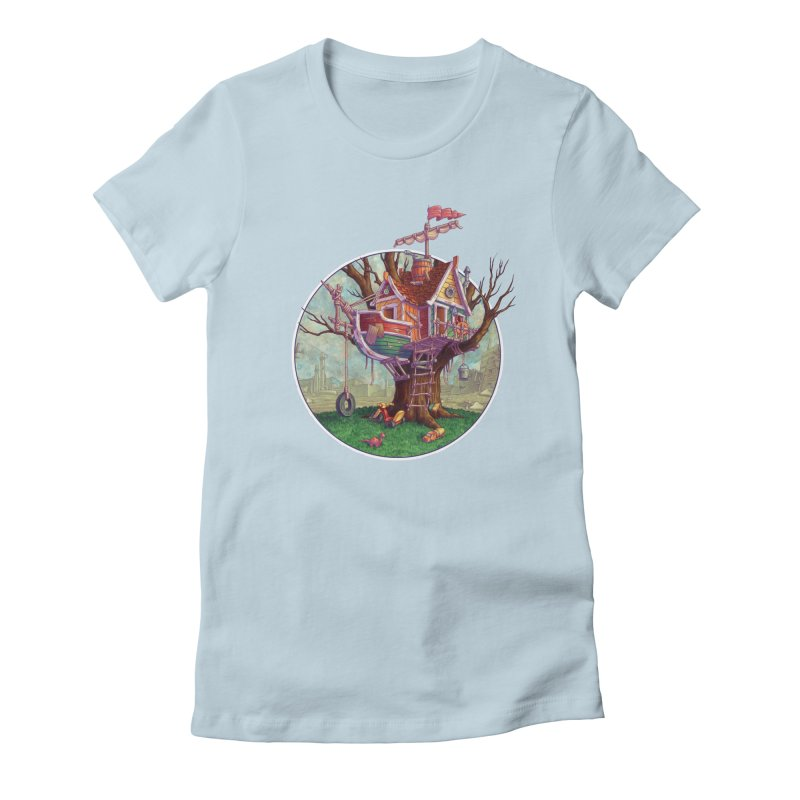 Last Outpost Women's Fitted T-Shirt by Mike Bilz's Artist Shop