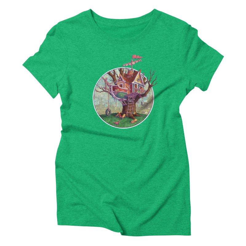 Last Outpost Women's Triblend T-Shirt by Mike Bilz's Artist Shop