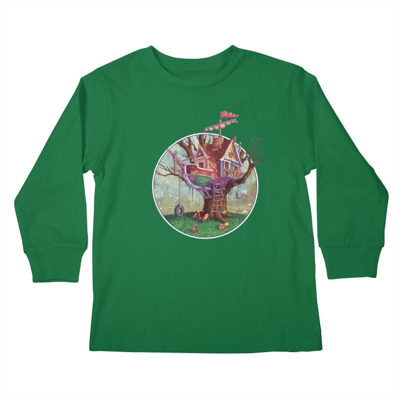 Last Outpost Kids Longsleeve T-Shirt by Mike Bilz's Artist Shop