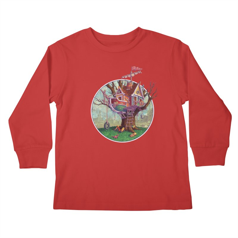 Last Outpost Kids Longsleeve T-Shirt by Mike Bilz's Artist Shop