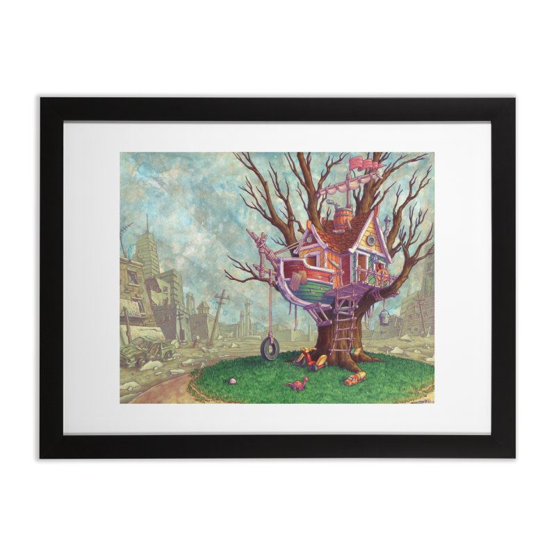 Last Outpost (print) in Framed Fine Art Print Black by Mike Bilz's Artist Shop