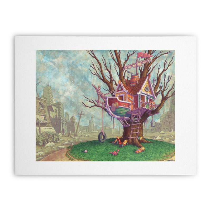 Last Outpost (print) Home Stretched Canvas by Mike Bilz's Artist Shop
