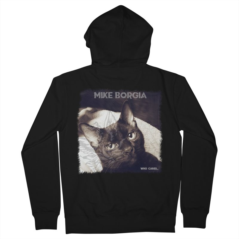 Who cares album art. Women's French Terry Zip-Up Hoody by mikeborgia's Artist Shop
