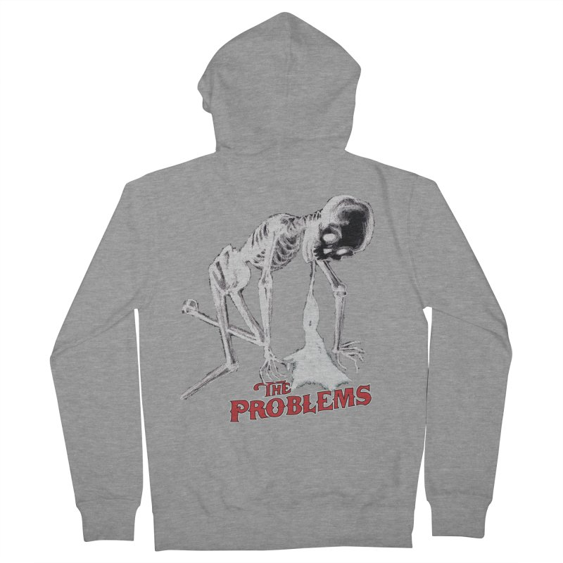 Puking Skeleton  Men's French Terry Zip-Up Hoody by mikeborgia's Artist Shop