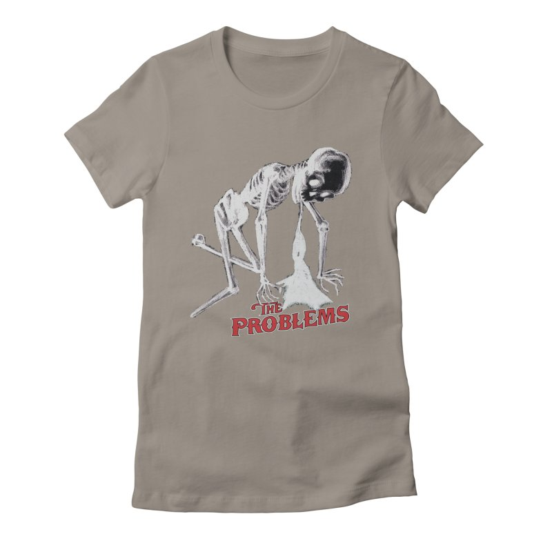 Puking Skeleton  Women's Fitted T-Shirt by mikeborgia's Artist Shop