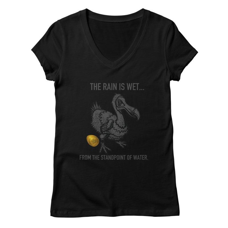 Wet Rain Tee Women's Regular V-Neck by mikeborgia's Artist Shop