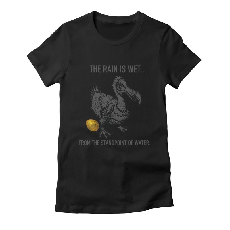Wet Rain Tee Women's Fitted T-Shirt by mikeborgia's Artist Shop