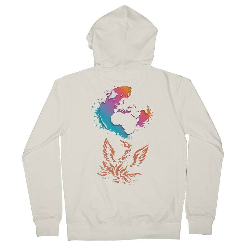 Earth Protector Women's French Terry Zip-Up Hoody by mikeborgia's Artist Shop