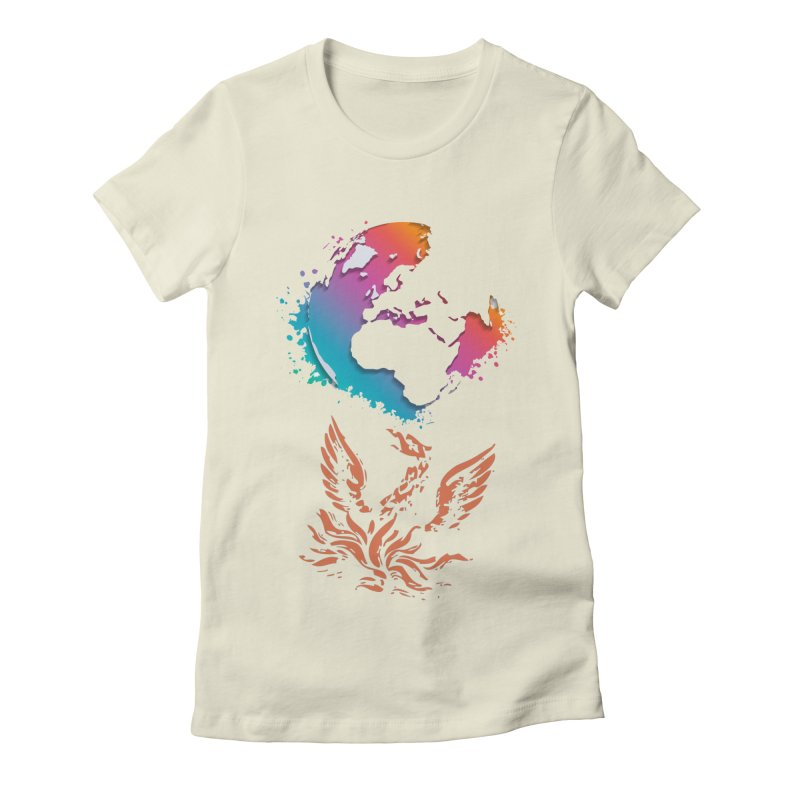 Earth Protector Women's Fitted T-Shirt by mikeborgia's Artist Shop