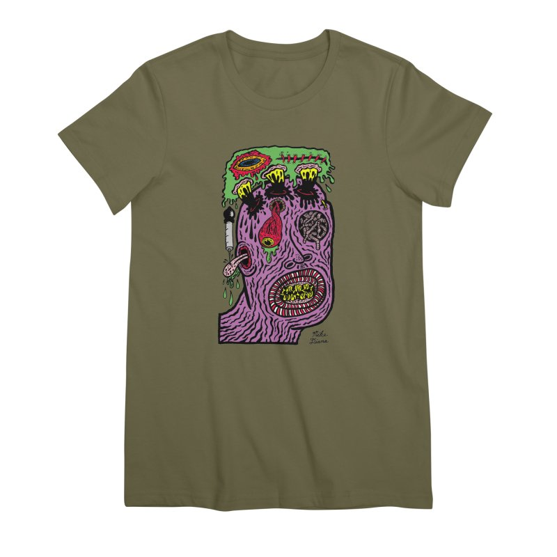 Purple Pain Person Women's Premium T-Shirt by Mike Diana T-Shirts Mugs and More!