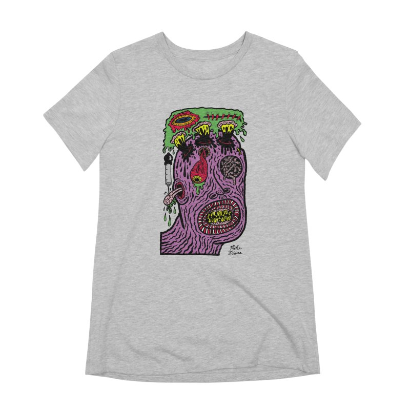 Purple Pain Person Women's Extra Soft T-Shirt by Mike Diana T-Shirts Mugs and More!