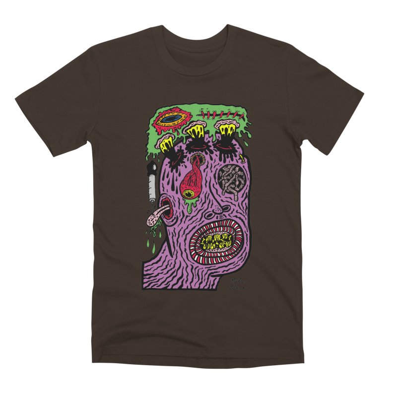 Purple Pain Person Men's Premium T-Shirt by Mike Diana T-Shirts Mugs and More!