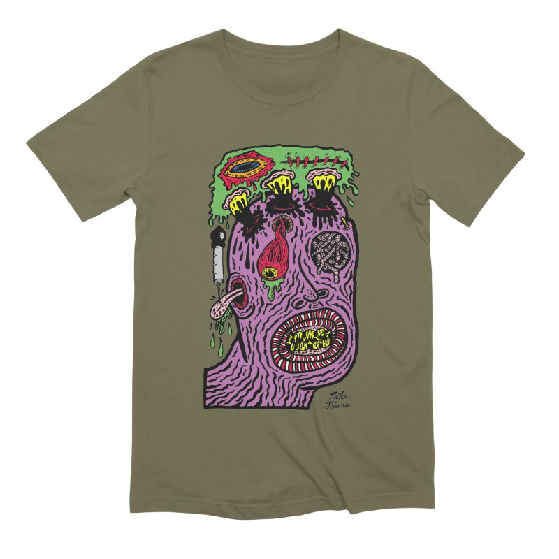 Purple Pain Person Men's Extra Soft T-Shirt by Mike Diana T-Shirts Mugs and More!