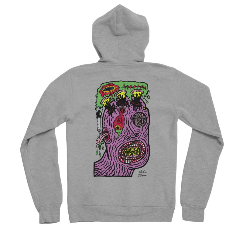 Purple Pain Person Men's Sponge Fleece Zip-Up Hoody by Mike Diana T-Shirts Mugs and More!